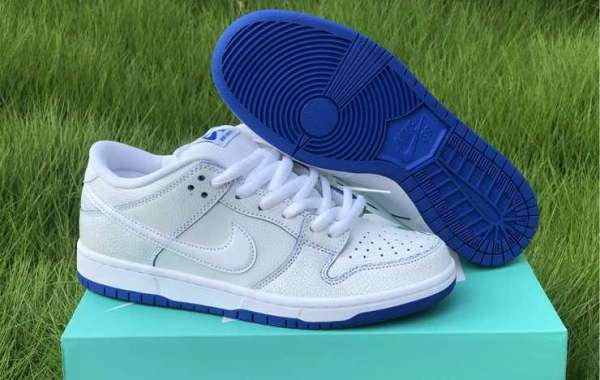 New Nike SB Dunk Low Premium White Game Royal Outlet Sale CJ6884-100