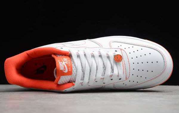 2020 Latest Nike Air Force 1 Low Rucker Park White/Team Orange-Black CT2585-100